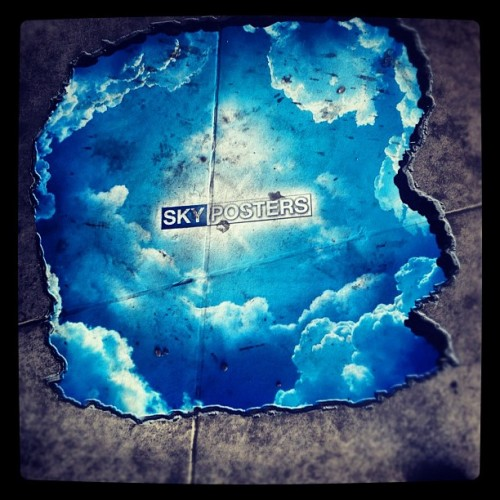 Street art or just a sign #hollywood #california#sky#instagramhub (Taken with Instagram)
