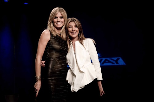 Here I am with Heidi Klum. This Thursday is Marie Claire's challenge on Project Runway!