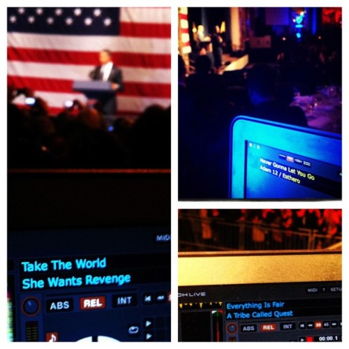 djadam12:  What I play for @BarackObama #presidentsdj (Taken with Instagram)