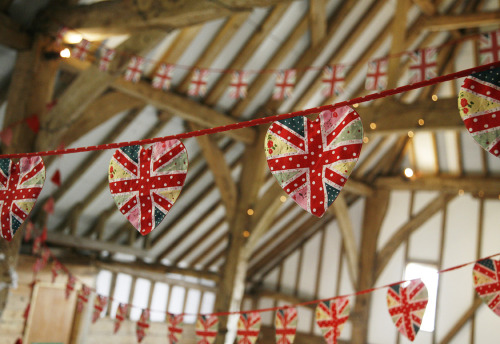Union Jack heart shaped bunting