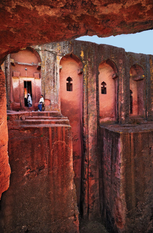 condenasttraveler:  The Unforgettables | Lalibela, Ethiopia's rock-hewn Bet Gabriel-Rufael church