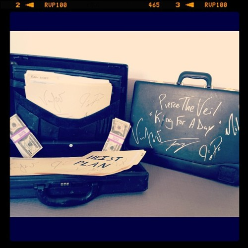 "Win these props from Pierce The Veil's ""King For A Day"" music video & tickets to the ""Collide With The Sky"" Tour! Enter now: http://ptvgiveaway.fearlessrecords.com (Taken with Instagram)"