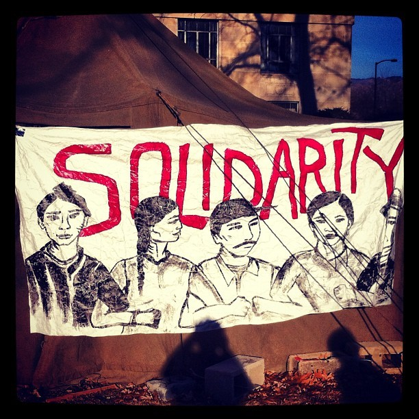 #occupy Boise encampment last January (Taken with Instagram)