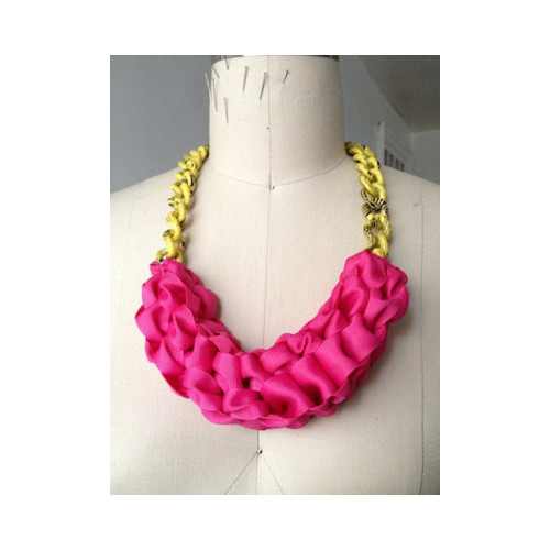 Pink Lemonade Necklace by HoneyBJewelry on Etsy   (clipped to polyvore.com)
