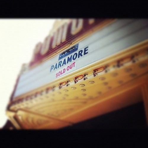 Today's Paramore's first concert after a year. 😱#Paramore #Concert (Tomada con Instagram)