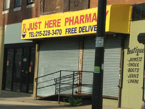 Caller: Hi, I need to pick up my prescription. Can you tell me where you're located?  Worker: Just Here.  Caller: Where is here?  Worker: Just here!  Caller: Where is there? Where are you?  Worker: Just. Here.  Caller: Fuck it, I'm going to Rite Aid.