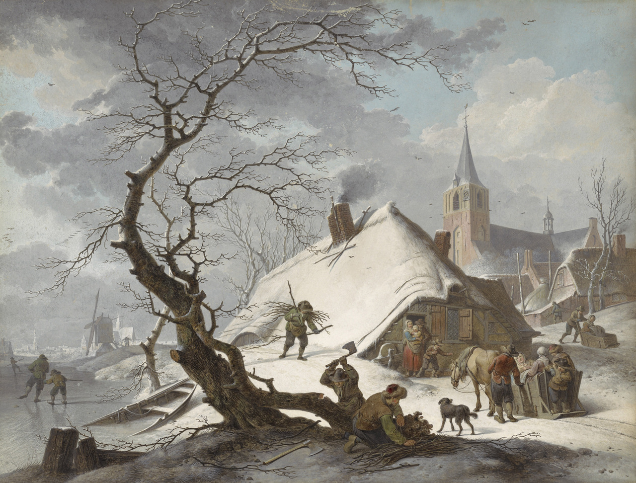 How to Beat the Heat: Let your mind wander a wintery landscape A Winter Scene, 1787, Hendrik Meyer