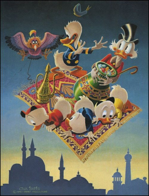 I don't post enough Disney art. This ones by Carl Barks.