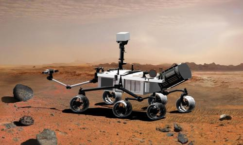 "Are you obsessed with the Mars rover? I am.  I lay awake at night thinking about how it's tooling around the Mars landscape, all alone. Every so often, stopping to scratch or sniff (sorry) at the ground. Or maybe collect a souvenir or two for the white guys at NASA.  But mostly I think about just how darn cute the rover is. I mean look at it. It has six (six!), independently suspended wheels but no tires. THE MARS ROVER HAS NAKED FEET!  It also has a skinny arm. I have skinny arms. We're kindred spirits, me and the Mars rover. And do you like big butts and cannot lie? Well, the rover has some real junk in the trunk, if you know what I mean. And by junk, I mean dust and soil samples and stuff. This was probably what Sir Mix-A-Lot was referring to as well, no doubt.  And lastly, I just love the name, 'Rover'. ""Here Rover. Here boy!"" I can just see the Mars rover ambling to me now, wagging its cute little, cylindrical tail, waving its skinny, little arm, sniffing and scratchingAAARRRGGGHHH IT'S SCRATCHING MY FACE OFF GET IT OFF GET IT OFF GET IT—  Perhaps it's better that this evil mecha-beast is on Mars. I should probably cancel my order with NASA."