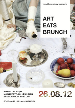 ART EATS BRUNCH EATS HIGH TEA   We're starving but luckily it's time again for nowMomentnow's annual summer fundraiser, and this time we're serving up a High Tea!  Come and join us on Sunday August 26 for a day of culinary and cultural delights as we take over S&yM Space in Mainzerstr. Neukölln.  # Hosted again by your favourite lady in waiting, drag icon Mysti,  ¶ Indulge in a delectable and very witchy High Tea served by Foodgasm Berlin, featuring homemade lavender honey scones and our delicious corn fritters  } Check out the larger than life photo prints of Alexa Vachon who has been capturing behind the scenes stills from projects by nowMomentnow and friends  ♬ Then let your hair down with old friends and new, with musical performances by Black Cracker, Justin Cusack, and DJ sets by Dark Horse Interchange, and more to be confirmed…
