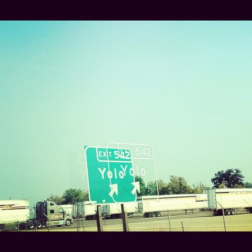 vodkacupcakes:  Yolo ↗  (Taken with Instagram at Yolo, CA)