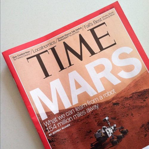 One piece of news that i feel will never tire me out. #timemagazine #mars #curiosityrover #nerdlife (Taken with Instagram)