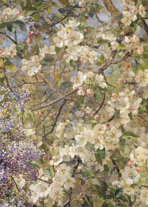 seabois:  Marie Egner, In the Blossoming Bower (detail), 1896
