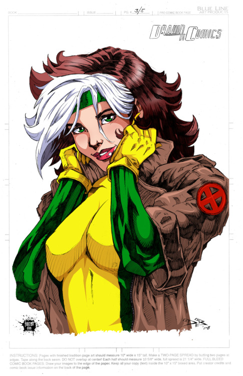 Artwork : Rogue (X-Men) par Mike De Balfo