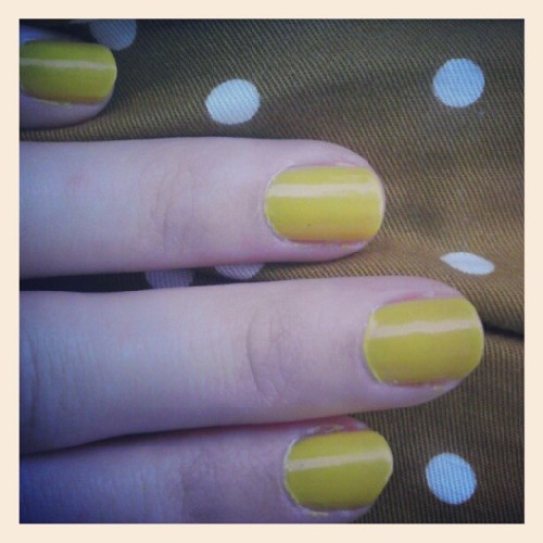 Nails! Getting some use out of my bright summer shades before it is gone! #yellow #julep #julepmaven #polkadots (Taken with Instagram)
