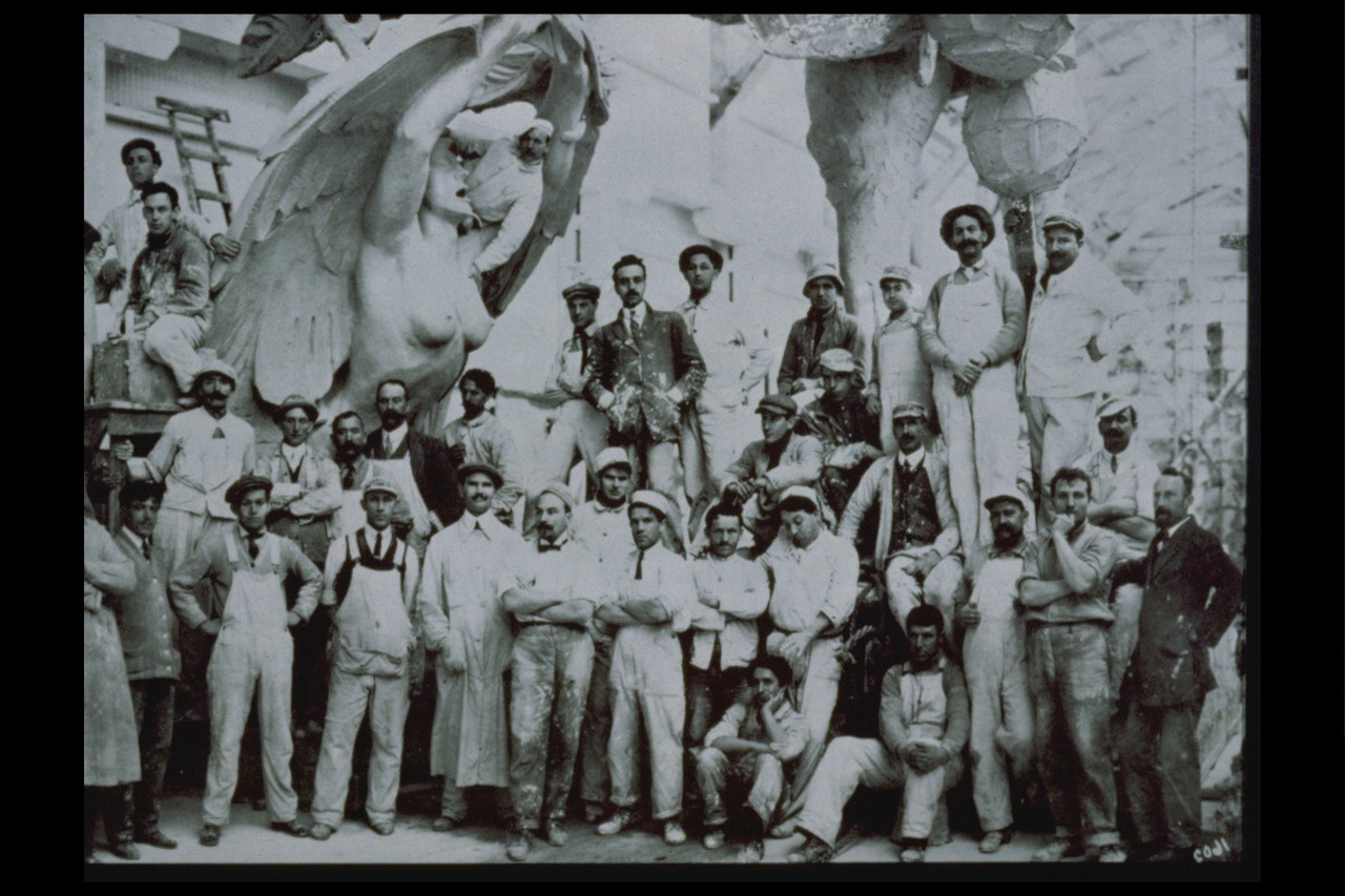 Artisans at the Palace of Fine Arts, 1915
