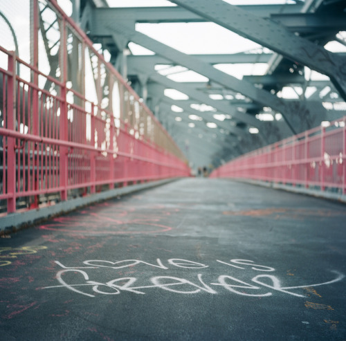 joelzimmer: Love is Forever | Yashica-A | Ektar 100 | Williamsburg Bridge, Brooklyn, NY