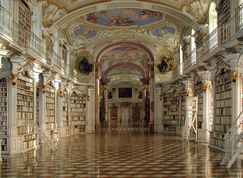 visitheworld:  World's largest monastic library at Admont Abbey in Styria, Austria (by ognipensierovo).