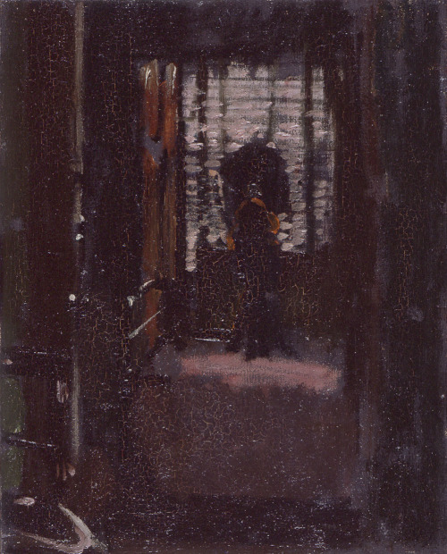 Jack the Ripper's Bedroom by Walter Sickert WALTER SICKERT (1860-1942). Full name Walter Richard Sickert. English artist born in Germany. He had a fascination for Jack the Ripper and believed that he once lodged in the same room as the Victorian serial killer. He even painted the room entitling it Jack the Ripper's Bedroom. In 1976 he was alleged to have been an accomplice in the murders [Jack the Ripper: the Final Solution by Stephen Knight], and in 2002 popular crime novelist Patricia Cornwell went so far as to claim that Sickert was Jack the Ripper himself [Portrait of a Killer: Jack the Ripper - Case Closed by Patricia Cornwell].