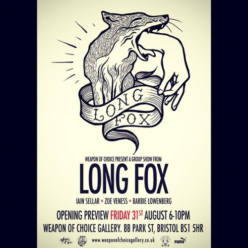 Woo! #longfox exhibition 31st August.  (Taken with Instagram)