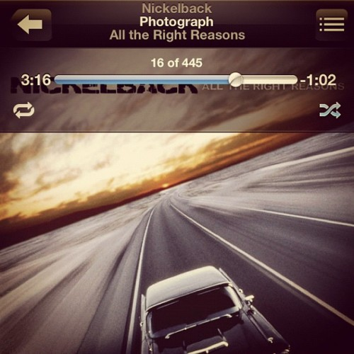 I could listen to this song all day. #nickelback #music #happy #throwback (Taken with Instagram)
