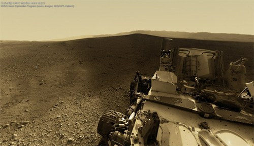 360-Degree Mars Panorama of the Day: Now we can explore the Red Planet in high-res, thanks to a new interactive panorama of Mars stitched together from shots taken at the Curiosity rover's landing site. For the mohawk guy in us all. [collider]