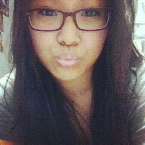 Picture of me in my glasses, rare!  HELLO NEW FOLLOWERS! (: