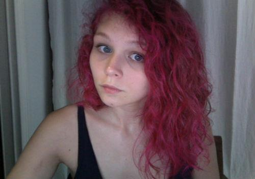 curly pink hair on tumblr