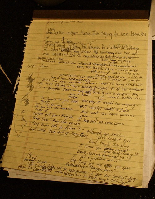 artiumrecordings:  Just for the record… I watched Nas write his raps on Life is good… Real S#!t. No controversy here… Back to regular scheduled program… No ID