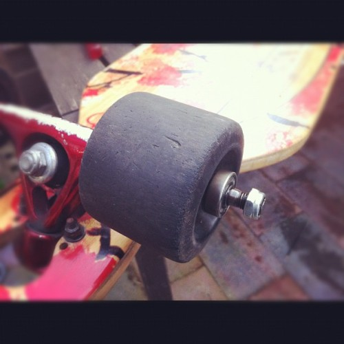 Door m'n lagers geknald…  #longboard  (Taken with Instagram)