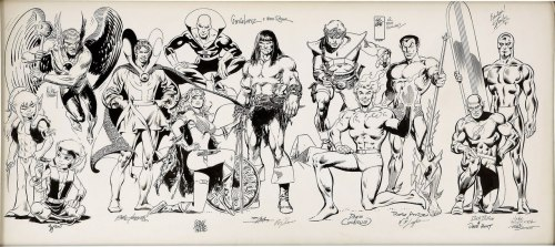 awesome artjam by Pini's, Joe Kubert,Gil Kane etc…gorgeous