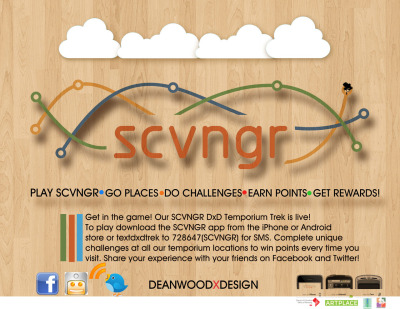 Who wants to play SCVNGR? I have placed several game layers around the Washington, DC metro area using the mobile gaming app SCVNGR, and Deanwood is my newest one! I have made the historic neighborhood of Deanwood my new playground for geolocation based apps, virtual gaming apps, and augmented reality. The locations of the DxD Trek(a series of challenges) focus on our three temporiums. At each there is much to see and explore, and we want to encourage you to share your experience at our events with your friends. Why not make it a game, right? The app is free and easy to use, and anyone can create a game. My hope is that this app will drive awareness and exposure to Deanwood's many charms, neighborhood resources, and a great way to know what's going on within the neighborhood. DxD has events going on every weekend and there is plenty to choose from. Fun for the whole family! Visit the website events page(The Happs) and come join us out in Deanwood for art, community, and fun! Game on! I'll share another app with you tomorrow that I've been using to play around with augmented reality.  Related articles IKEA 2013 Catalog Has Augmented Reality (augmentedblog.wordpress.com) The contact lenses that could be the future of augmented reality (business.financialpost.com) Sojournals posted a blog post (sojournalists.ning.com)