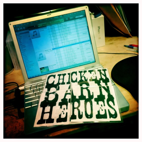 chrisconly:  Collect all 4 Chicken Barn Heroes CDs!! Grab one while we play in the Union Square Subway 6-9pm tonight:) John S Lens, Blanko Film, No Flash, Taken with Hipstamatic  Only ten bucks!!!
