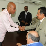 """President Michel Martelly held a working meeting Monday with a delegation from Ecuador focused on bilateral cooperation on the issue of disabled persons. The two sides agreed on several ""fundamental points,"" according to a statement from Haiti's National Palace, including the transfer of knowledge about a process of identifying and monitoring persons with disabilities. Haiti's disabled population, much of which is the result of the earthquake of January 2010, stands at around 800,000 people, according to recent estimates — nearly 9 percent of Haiti's population. The two countries agreed to an exchange of experiences on the issue of disabilities. Martelly said Ecuador's experience in the area would be ""beneficial"" to Haiti in the areas of special education and inclusive education, among others. Additionally discussed was the development of businesses related to disability, including the training of technicians in the repair and production of prosthetics and orthotics and the creation of workshops for prosthetics. Haiti and Ecuador each agreed that Haiti needs an investigation into the prevalence of disability in its population, with proposals to contain the problem.""  (via Haiti's Martelly Holds Working Meeting with Delegation from Ecuador)"