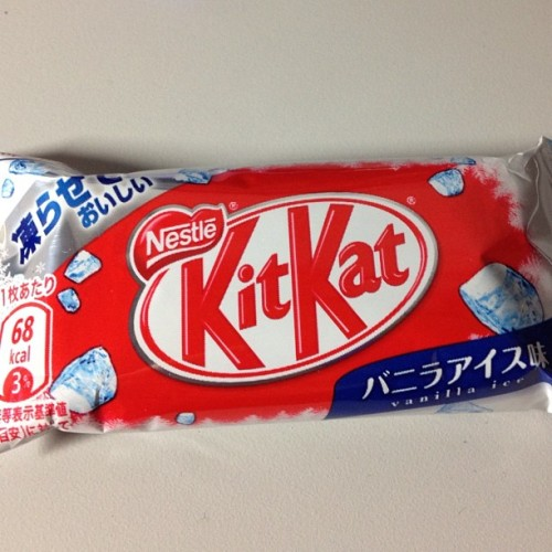 Japanese vanilla ice cream flavored Kit Kat #japanesegoods #japanesekitkat #japanesecandy  (Taken with Instagram)