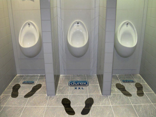 jaymug:  Durex Toilet Ambient Advertising