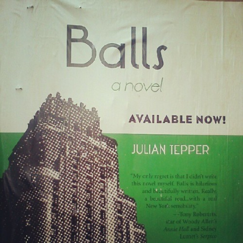 Balls. A novel. Reckon this would have to be a good read.  (Taken with Instagram)