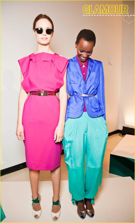 Color inspiration from Rachel Roy's spring 2011 show.   Art: Jenifer Gobie, Photo: Mark Leibowitz