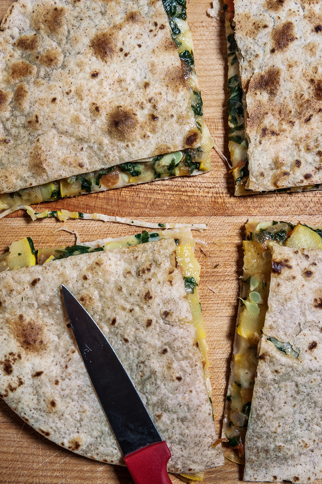 Vegetable and Cheese Quesadillas (Tortillas Filled with Mozzarella, Spinach, and Squash) - Gourmet: August 1987