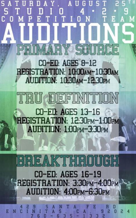 STUDIO 429'S JUNIOR TEAM AUDITIONS!