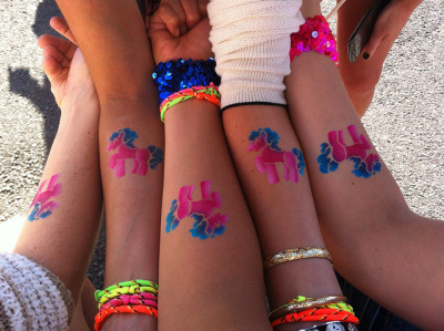Pony Tats by MariSheibley on Flickr.Awesome shot by mars. I heart @courtneylewis's bachelorette.