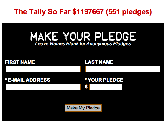 agent-bartowski:  JESUS CHRIST THE NUMBERS HAVE JUMPED DID SOMEONE PLEDGE A MILLION DOLLARS OR