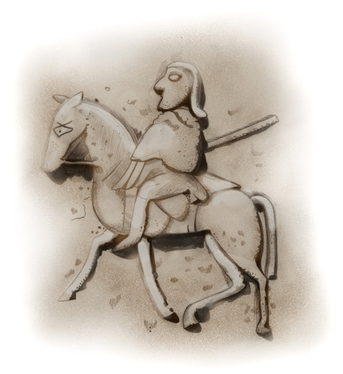 The Eriskay Pony can be linked as far back as the Picts, a group of early celtic people living in Scotland until around 1000AD. Pictish stones which illustrate celtic symbols such as Double discs, Z rods, combs and mirrors also heavily feature horses and ponies. These ponies would have been native to the land and studies suggest the Eriskay pony would be closely related to this early domesticated horse. The simplicity of these stones and the scenes they depict are a joy to be seen.