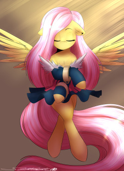 theponyartcollection:  Fluttershy Healer - Commission by *spittfireart