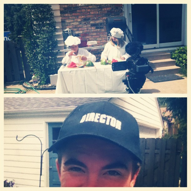 I got to wear the #director hat this afternoon during #filming! #picstitch (Taken with Instagram)