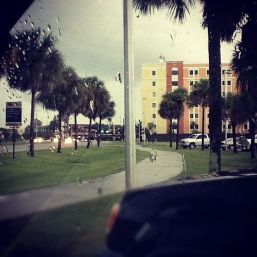 Towers, from Wayne Densch Athletic facility, #ucf #rain #storm  (Taken with Instagram)