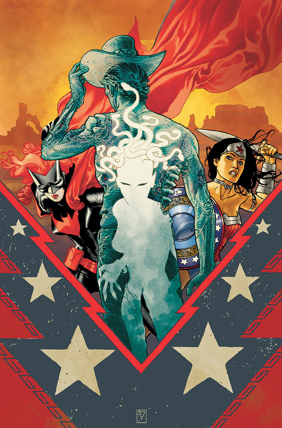DC comics for November 2012: JH Williams designs fantastic covers. This is the cover for Batwoman #14, another beautifully crafted visual.