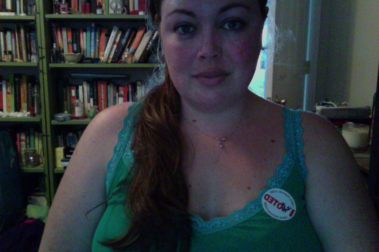 Cool sticker alert! See also: Sweaty, frizzy Floridian alert. Ew.