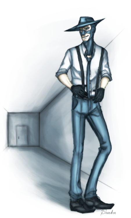ART TRADE 2: Pierre for Froopoo~. your sexy spy is real fun I really like him. (: Hope you like it! oh and I made a full version for once: here