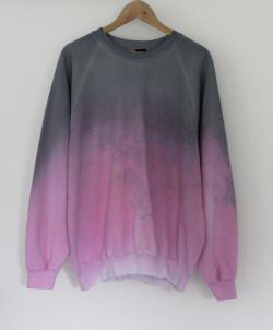 andclothingco:  New Dip Dye Sweaters in stock at AndClothing! (via ANDCLOTHING — Pink Dusk Dip Dye Sweater)